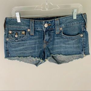 Like New True Religion Joey Cutoff Shorts Sz 28
